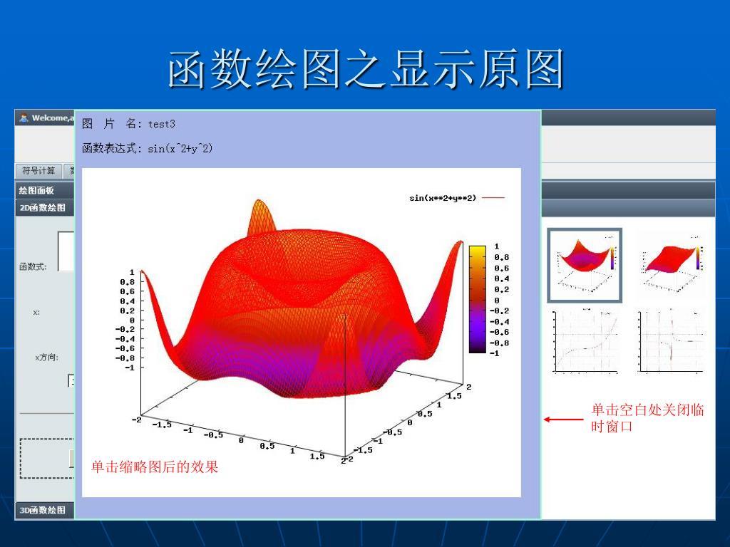 函数绘图之显示原图