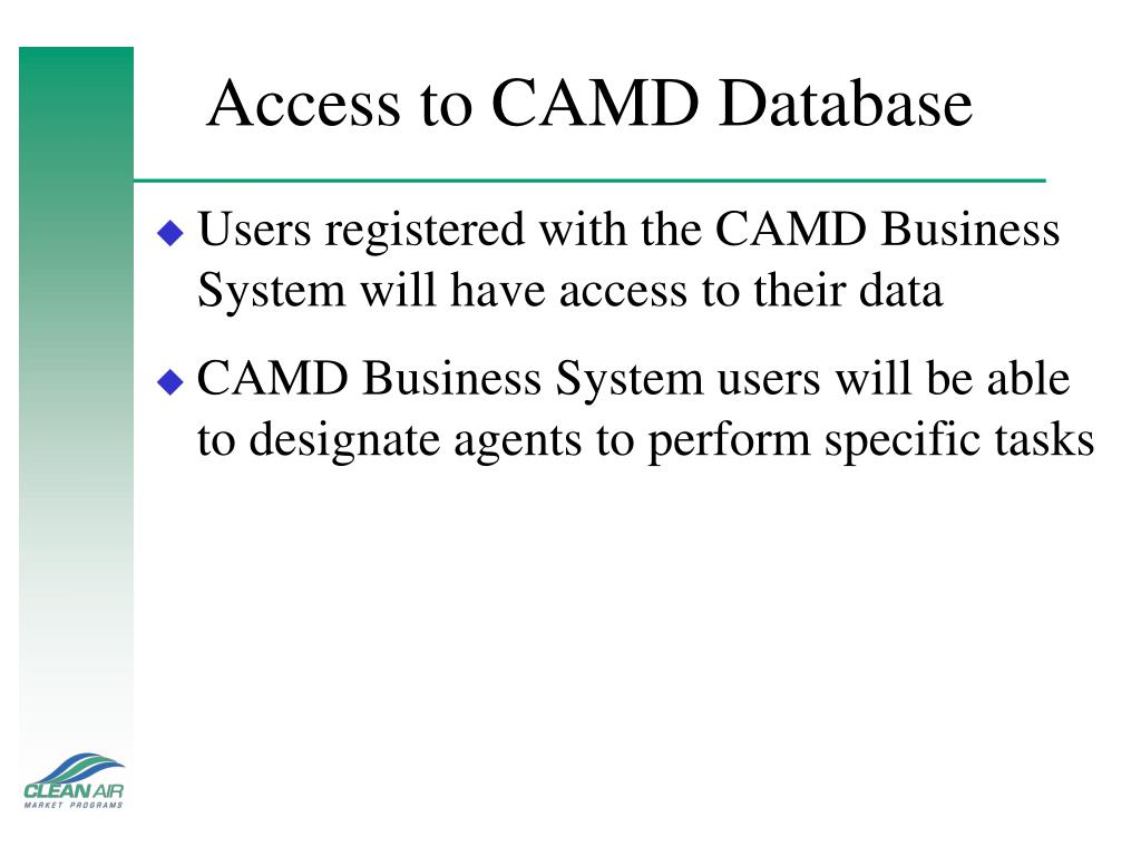 Access to CAMD Database