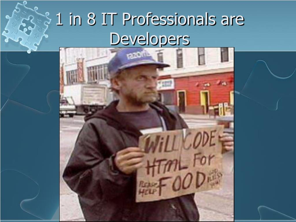 1 in 8 IT Professionals are Developers