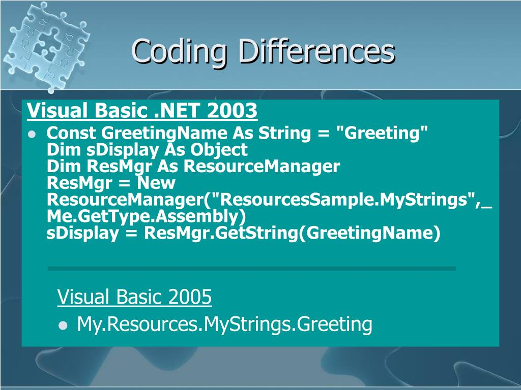 Coding Differences