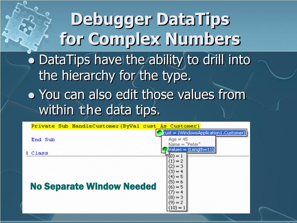 Debugger DataTips