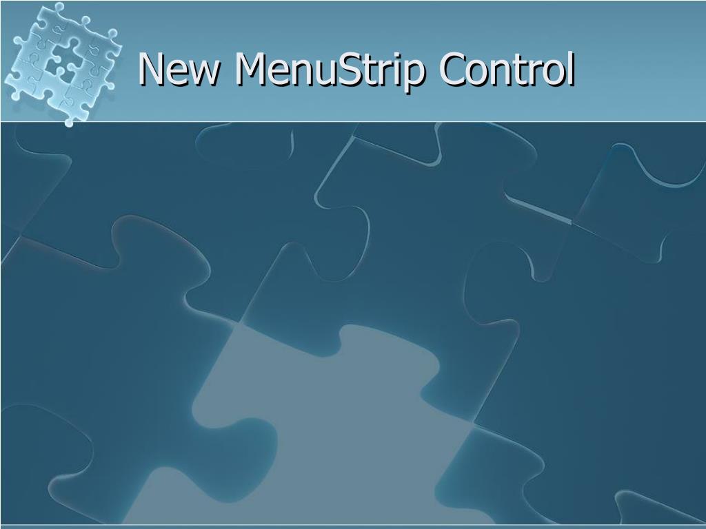 New MenuStrip Control