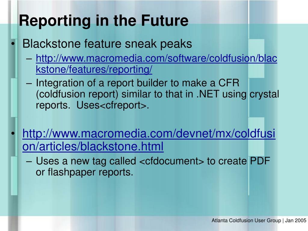 Blackstone feature sneak peaks