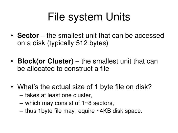 File system Units