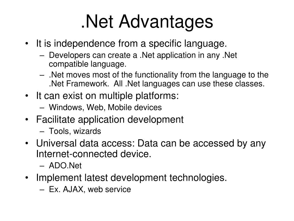 .Net Advantages