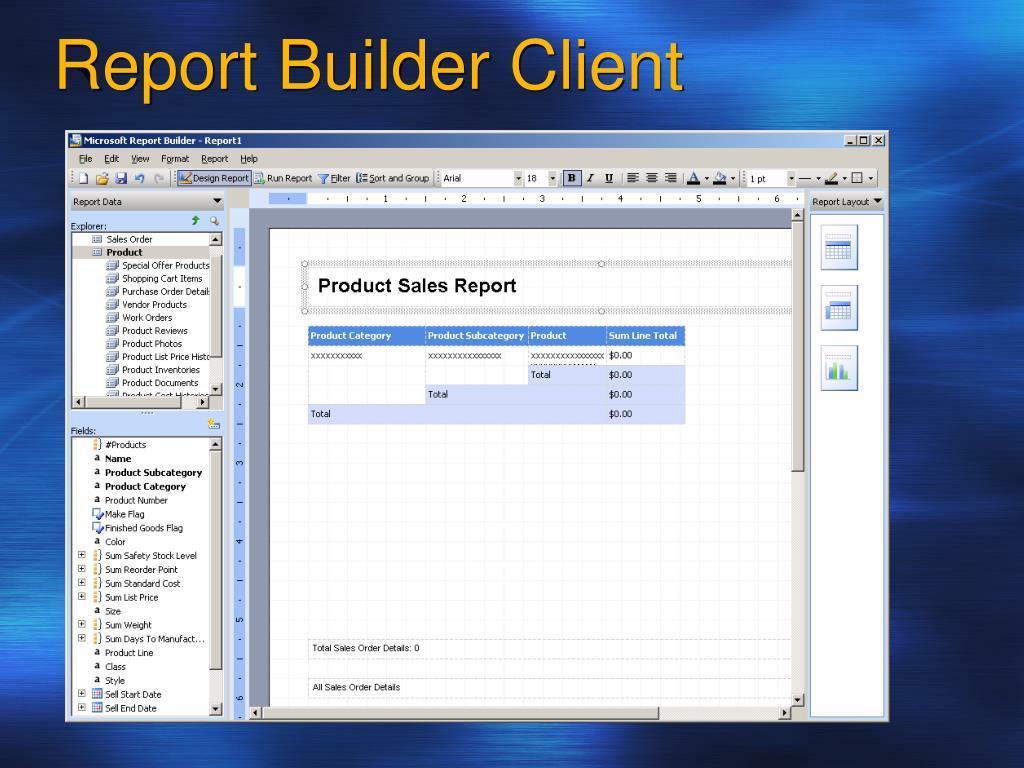 Report Builder Client
