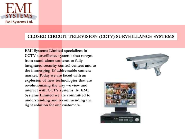 CLOSED CIRCUIT TELEVISION (CCTV) SURVEILLANCE SYSTEMS