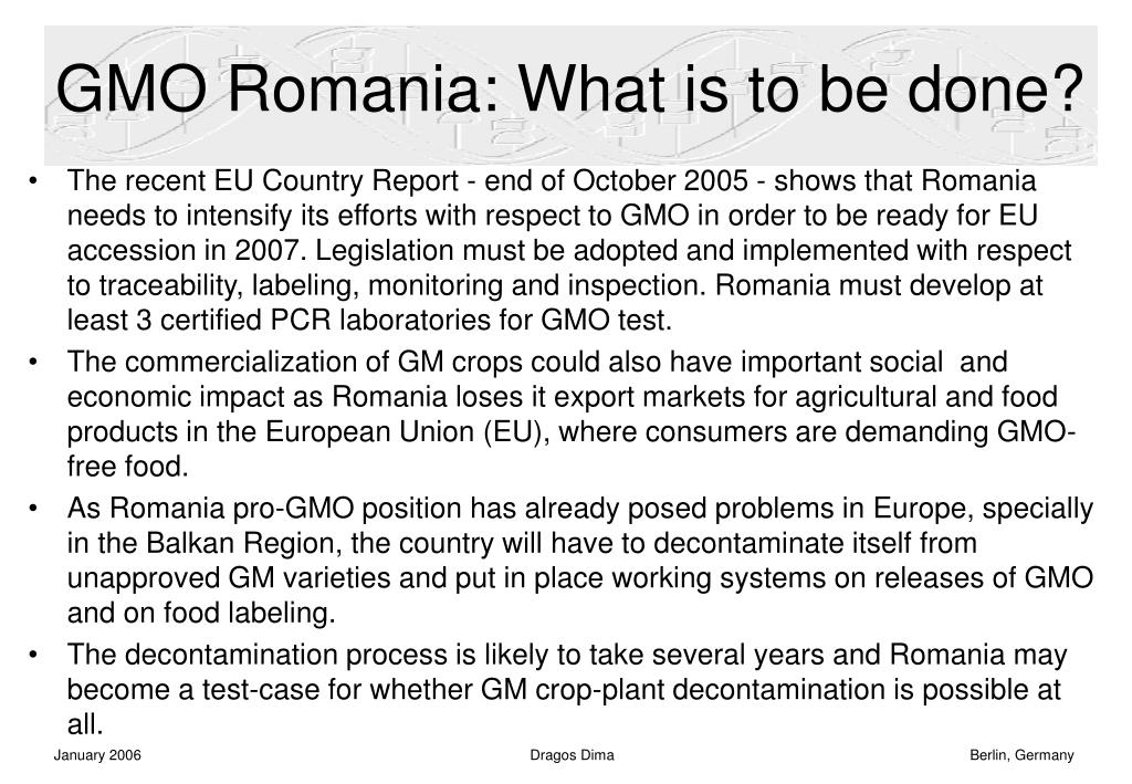 GMO Romania: What is to be done?