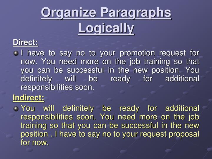 Organize Paragraphs Logically