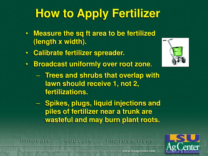 How to Apply Fertilizer