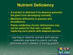 nutrient deficiency