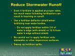 reduce stormwater runoff