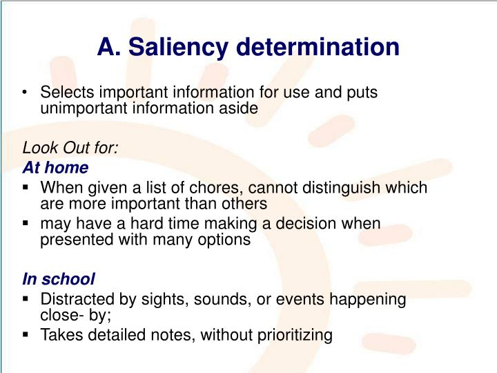 A. Saliency determination
