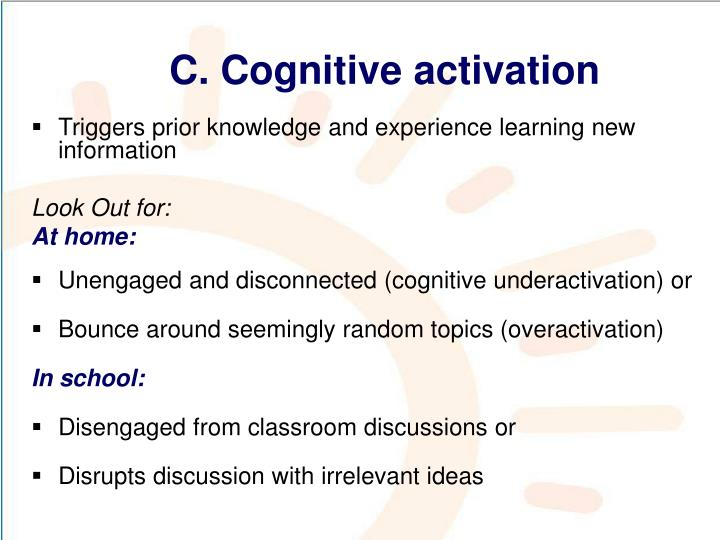 C. Cognitive activation