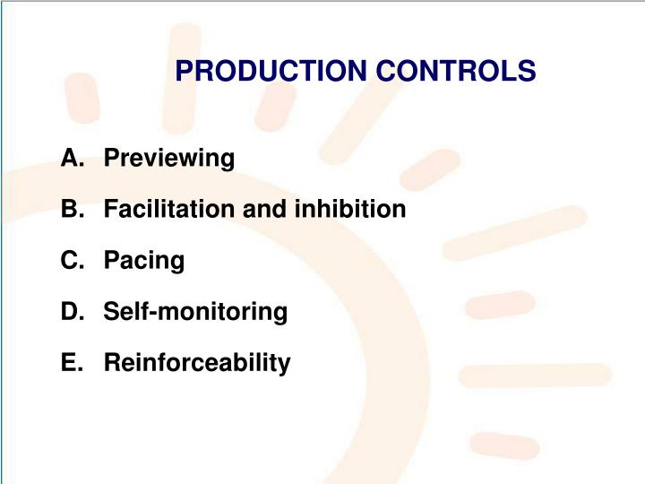 PRODUCTION CONTROLS