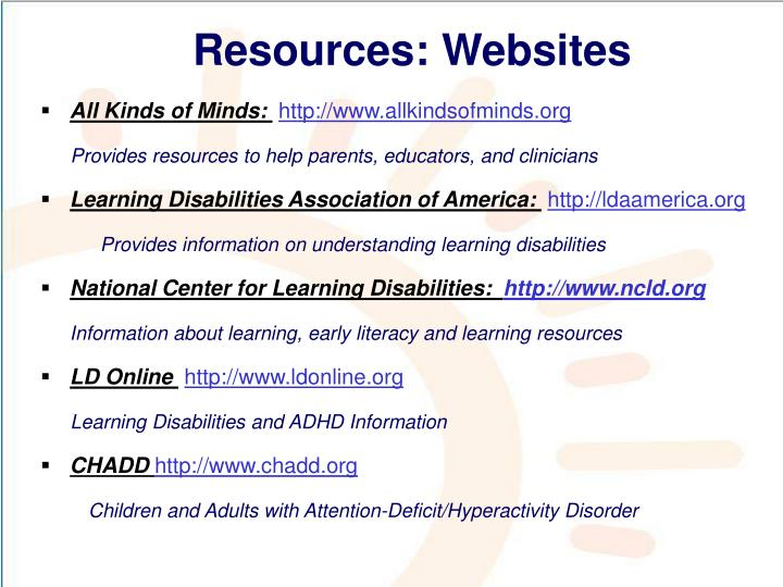 Resources: Websites