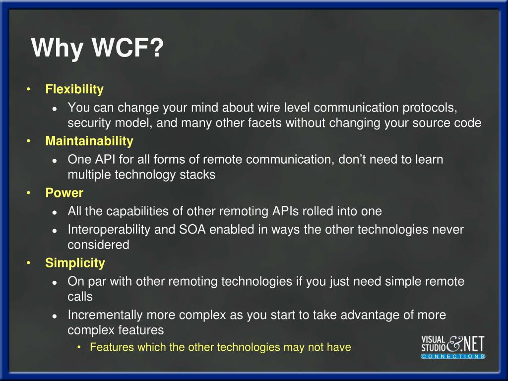 Why WCF?