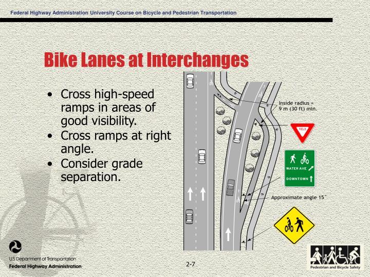 Bike Lanes at Interchanges