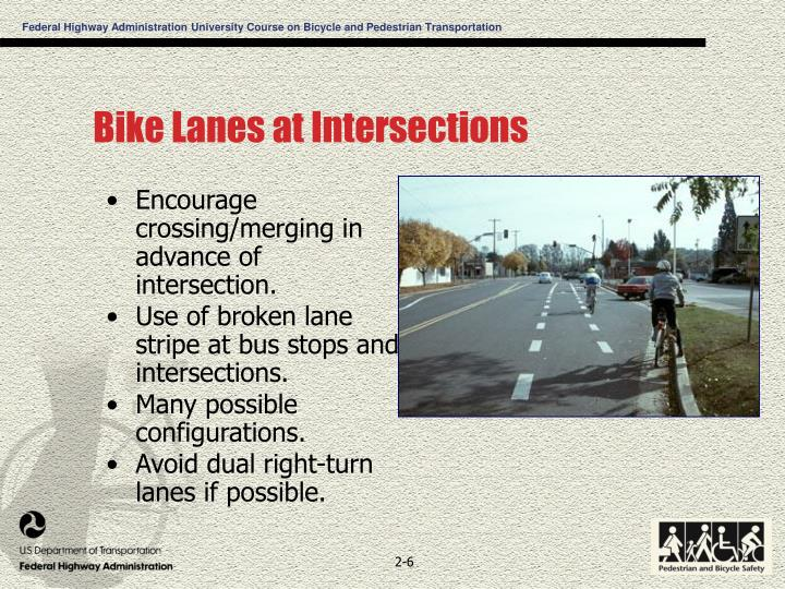 Bike Lanes at Intersections