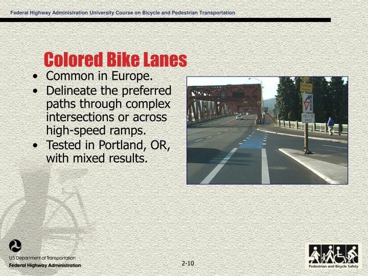 Colored Bike Lanes