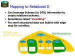 mapping to relational ii