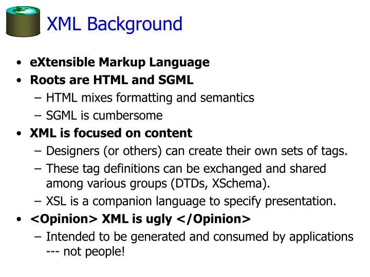 XML Background