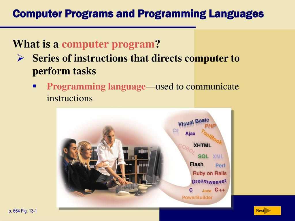 Computer Programs and Programming Languages