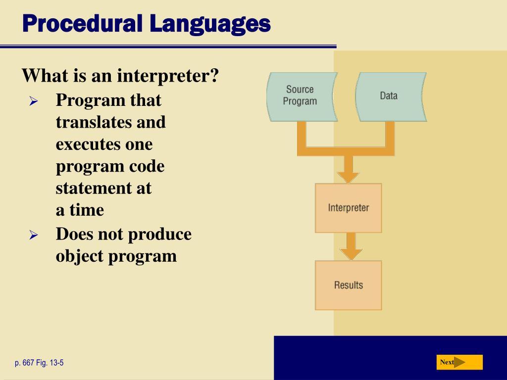 Procedural Languages