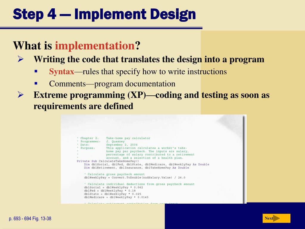 Step 4 — Implement Design