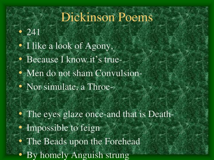Dickinson Poems