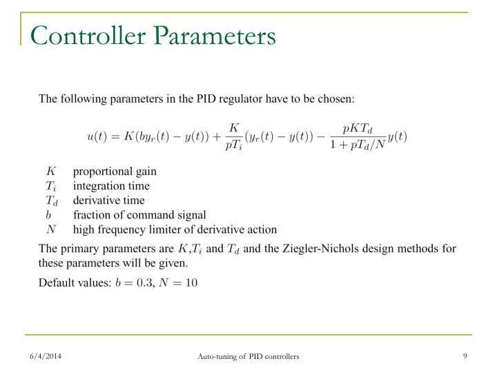 Controller Parameters