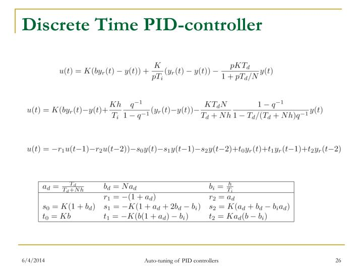 Discrete Time PID-controller