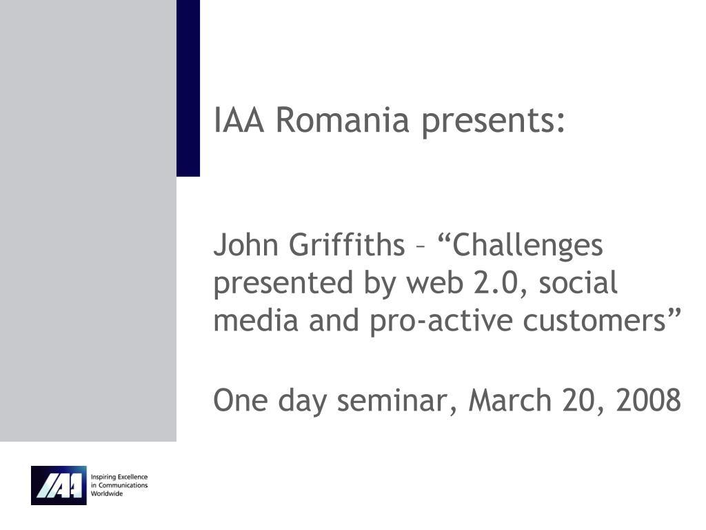 IAA Romania presents: