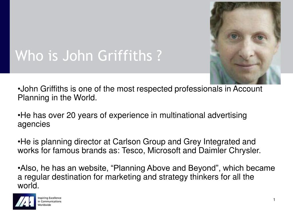 Who is John Griffiths ?