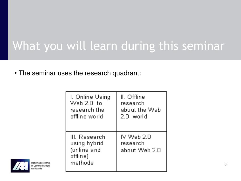 What you will learn during this seminar