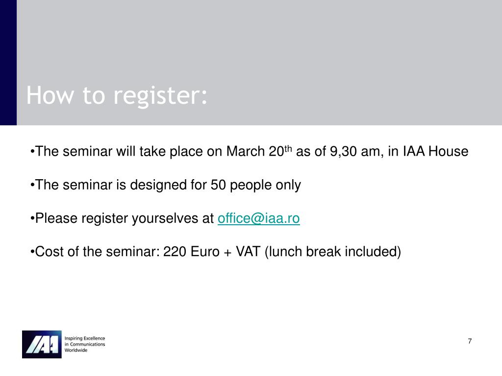 How to register:
