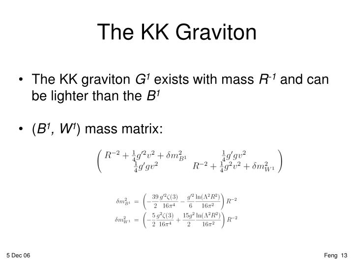 The KK graviton