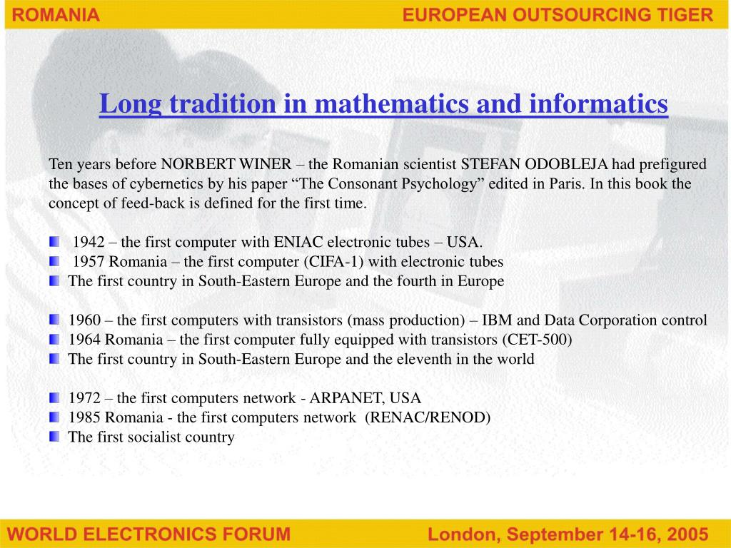 Long tradition in mathematics and informatics