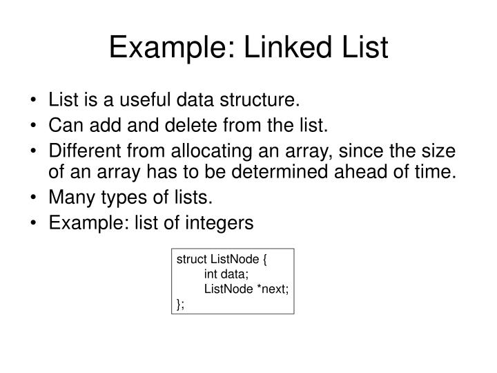 Example: Linked List
