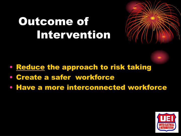 Outcome of Intervention