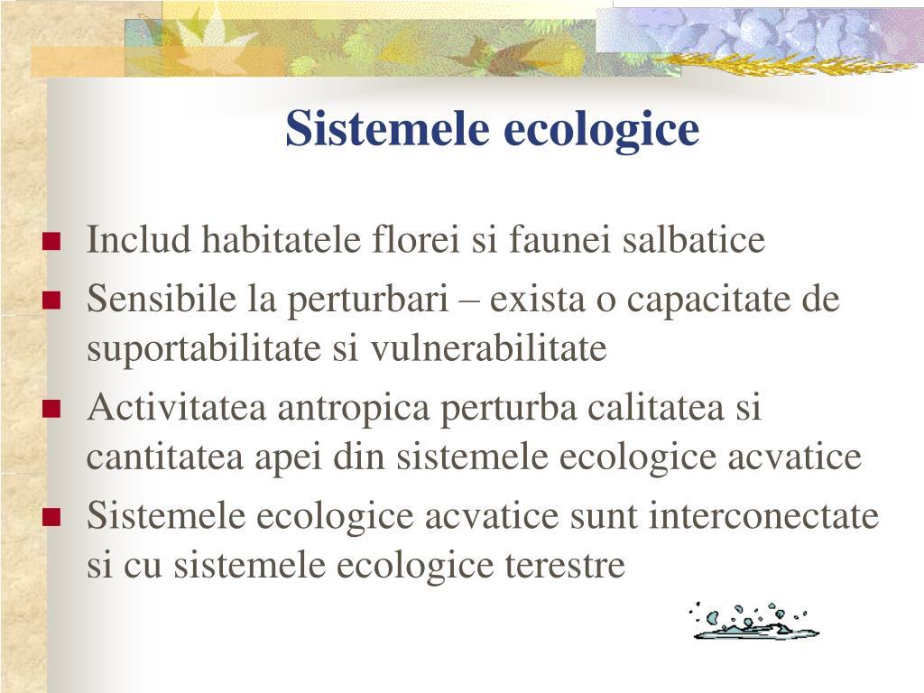 Sistemele ecologice