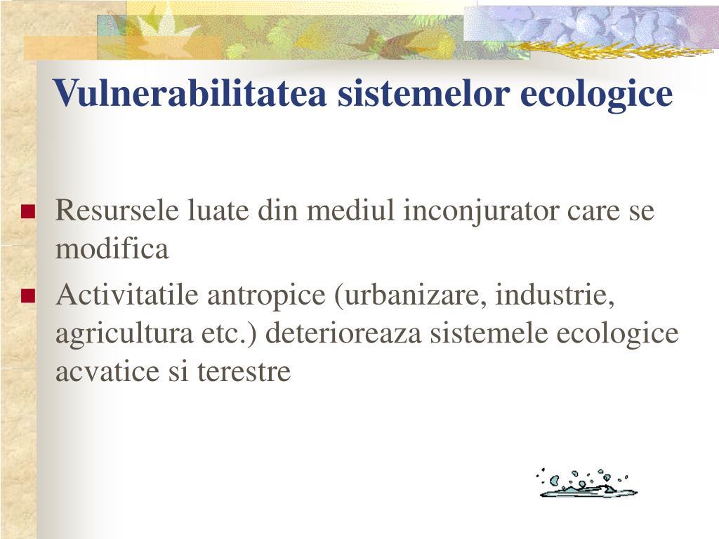 Vulnerabilitatea sistemelor ecologice