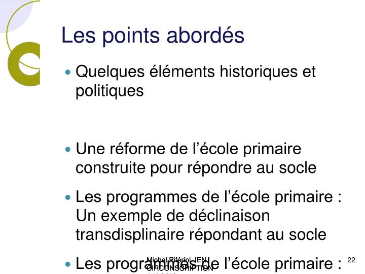 Les points abord s