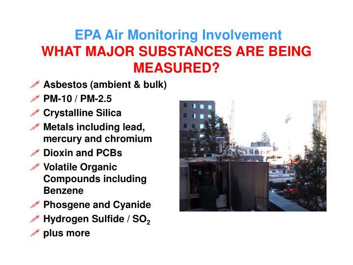 EPA Air Monitoring Involvement