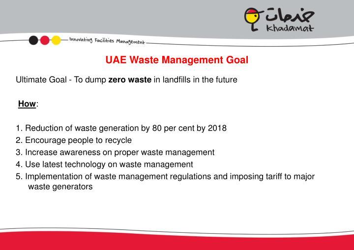 UAE Waste Management Goal