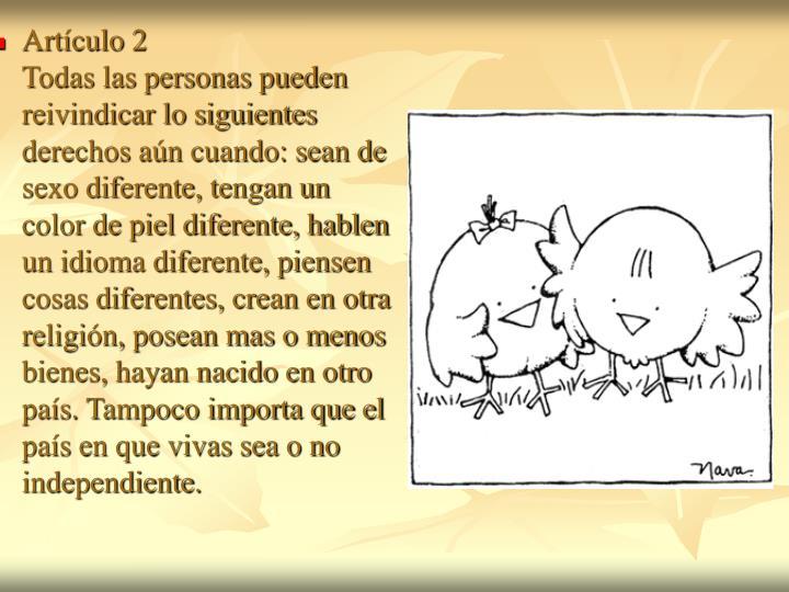 Artículo 2
