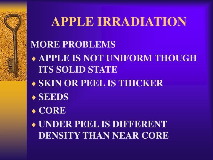 APPLE IRRADIATION