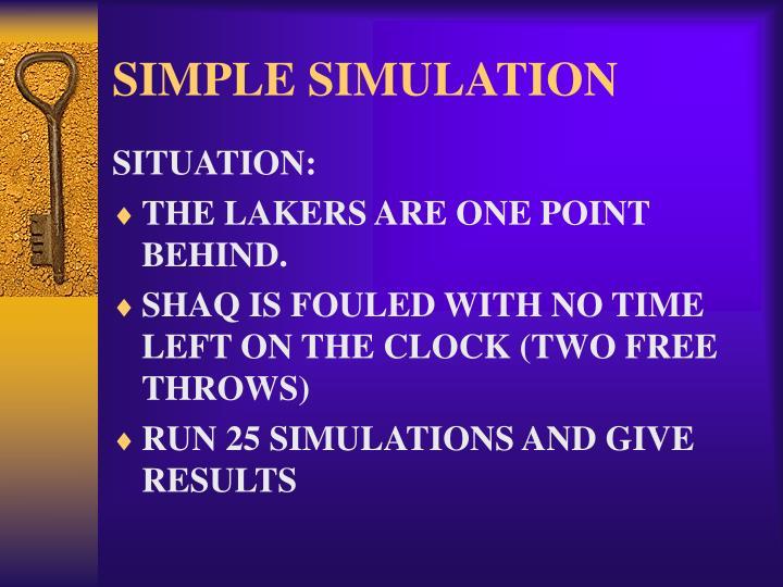 SIMPLE SIMULATION