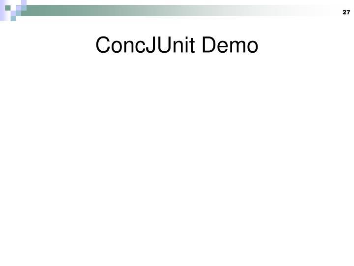 ConcJUnit Demo