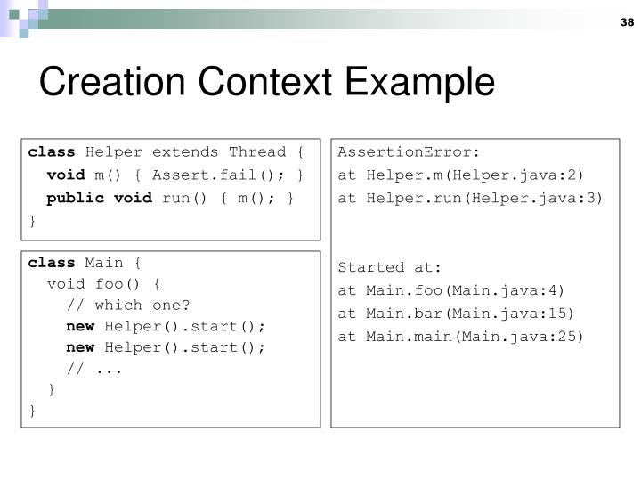 Creation Context Example